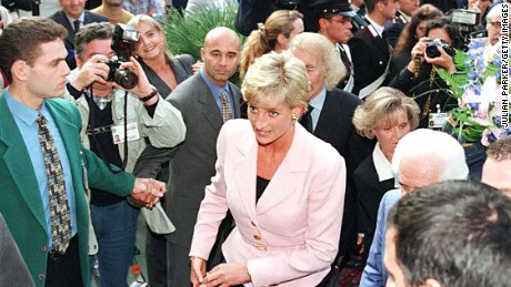 Diana, The Princess Of Wales, Arrives At The Grand Hotel, In Rimini, Italy.The Princess Was In Rimini To Receive A Humanitarian Award For Her Charity Work. (Photo by Julian Parker/UK Press via Getty Images)