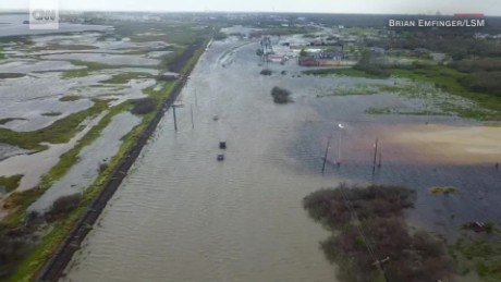 Drone footage shows Harvey's destruction