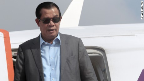 Prime Minister Hun Sen of the Cambodian People's Party has ruled Cambodia for more than 30 years.