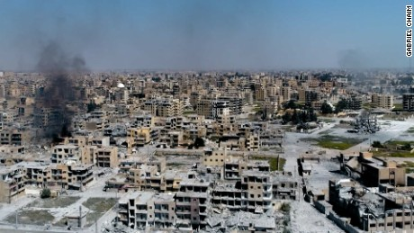 Raqqa in ruins: Drone footage reveals devastation in ISIS' stronghold in Syria