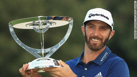 Dustin Johnson beat Jordan Spieth in a playoff to win The Northern Trust at Glen Oaks Club on Sunday.