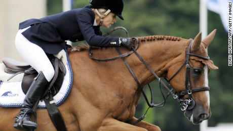 Australian Edwina Tops-Alexander in action in Chantilly, France in 2010.