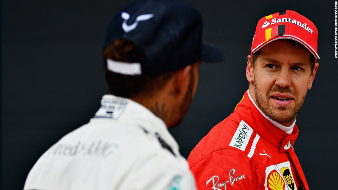 Seven points separate Sebastian Vettel (right) and Lewis Hamilton going into this weekend's Italian Grand Prix at Monza.