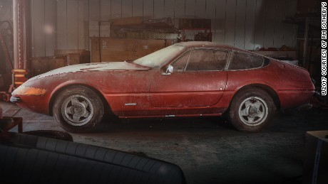 Rare 'barn find' Ferrari sells for $  2M
