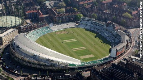 A perfectly normal cricket field or, for the uninitiated, The Egg of Confusion.
