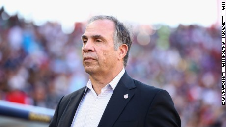 SANTA CLARA, CA - JULY 26:  Head coach Bruce Arena stands on the sidelines before their game against the Jamaica during the 2017 CONCACAF Gold Cup Final at Levi's Stadium on July 26, 2017 in Santa Clara, California.  (Photo by Ezra Shaw/Getty Images)