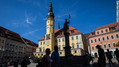 Bautzen's town center. The east German town is just 50 kilometers (31 miles) from the Polish border.