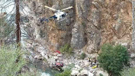 Teams worked to remove bodies from a car stuck in the Kings River in California since late July.