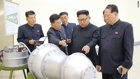 Kim Jong Un seen here in this undated photo released Sunday by North Korean state media inspecting what is claimed to be a nuclear weapon.