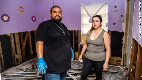 Jose Rodriguez and Veronica Mendoza had to tell their daughter her room was destroyed.