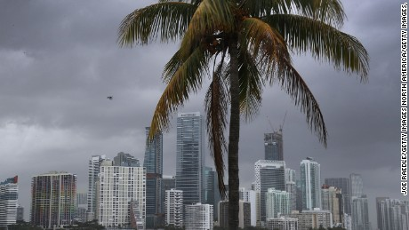 MIAMI, FL - MAY 25:  The city skyline is seen as the National Hurricane Center releases its prediction that the 2017 hurricane season will be above-average on May 25, 2017 in Miami, Florida. The report indicates that the Atlantic hurricane season, which begins on June 1st, may produce 11 to 17 named storms.  (Photo by Joe Raedle/Getty Images,)