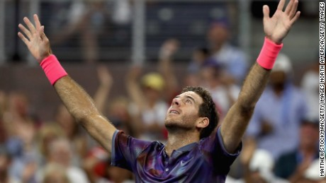 Juan Martin del Potro won his one and only grand slam title at the US Open.