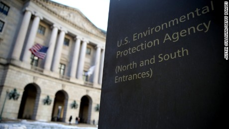 WASHINGTON, DC:  A view of the U.S. Environmental Protection Agency (EPA) headquarters on March 16, 2017 in Washington, DC. U.S. President Donald Trump's proposed budget for 2018 seeks to cut the EPA's budget by 31 percent from $8.1 billion to $5.7 billion. (Justin Sullivan/Getty Images)