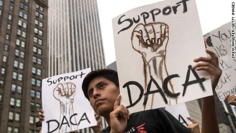 Blue states sue Trump over DACA