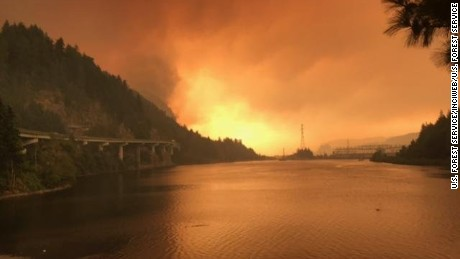 Teen suspected of starting massive Oregon wildfire, state police say