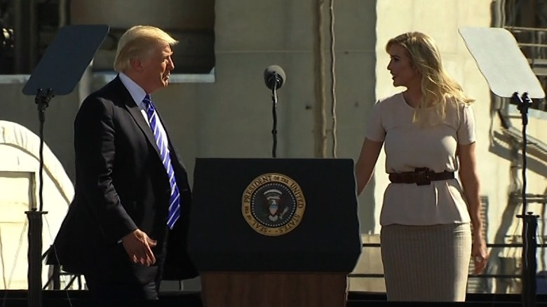 Trump brings Ivanka on stage