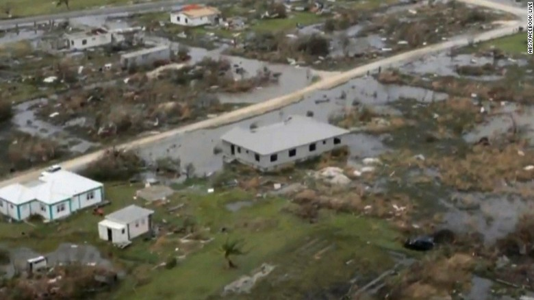 Hurricane Irma destroys homes in Barbuda
