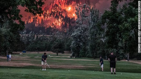 "These golfers in Washington state give new meaning to the term ""playing through."""