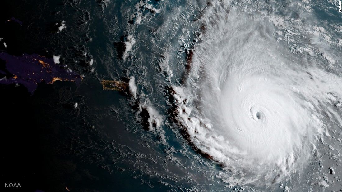 "Hurricane Irma moves through the Caribbean in this satellite image released Tuesday, September 5, by the National Oceanic and Atmospheric Administration. Irma, a powerful Category 5 storm, <a href=""http://www.cnn.com/2017/09/07/americas/gallery/hurricane-irma-caribbean/index.html"" target=""_blank"">has devastated several islands</a> and is expected to hit the United States over the weekend. <a href=""http://www.cnn.com/interactive/storm-tracker/"" target=""_blank"">Track the storm</a>"