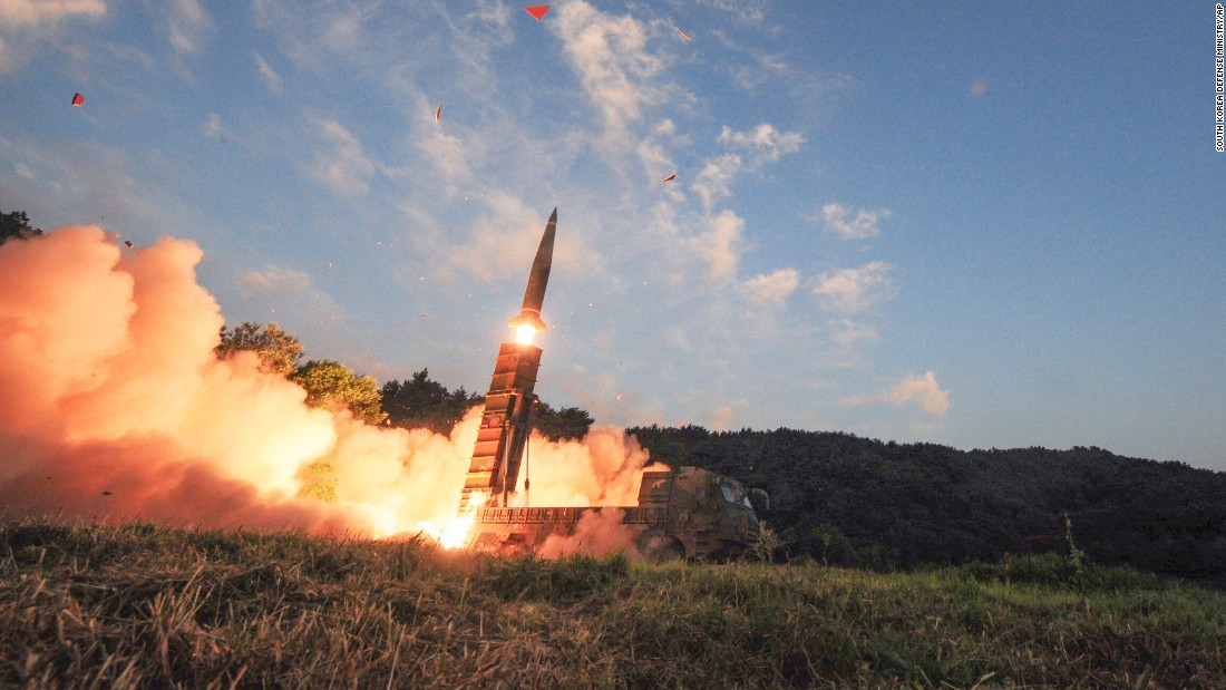 "South Korea's military launches a ballistic missile during a live-fire drill on Monday, September 4. <a href=""http://www.cnn.com/2017/09/04/asia/north-korea-nuclear-test/index.html"" target=""_blank"">The show of military might</a> came after North Korea's test of what it claimed to be a hydrogen bomb."