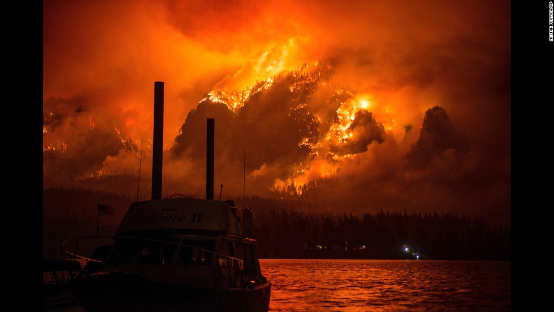 "The Eagle Creek wildfire is seen across the Columbia River above Cascade Locks, Oregon, on Monday, September 4. Oregon State Police <a href=""http://www.cnn.com/2017/09/06/us/oregon-fire-teenager/index.html"" target=""_blank"">have identified a teenager</a> they believe started the fire, which has now merged with another wildfire and forced hundreds of people to flee the area."