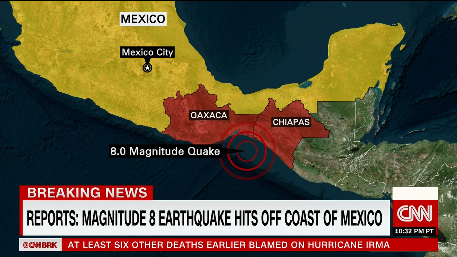 Strong Earthquake Hits Off Coast Of Mexico CNN Video - Us navy map of future of mexico