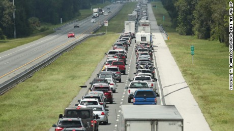 Traffic slows to a crawl Friday on the northbound lanes of  Florida's Turnpike near I-75 in Wildwood.
