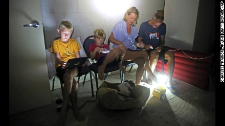 The Blinckman family takes shelter in Key West as Hurricane Irma passes overhead on September 10.