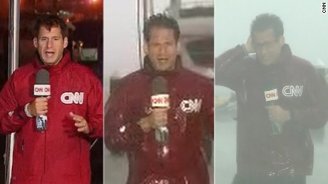 John Berman covering Hurrican Irma.