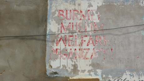 Sign for Burmese Muslim Welfare Organisation in Arkanabad.