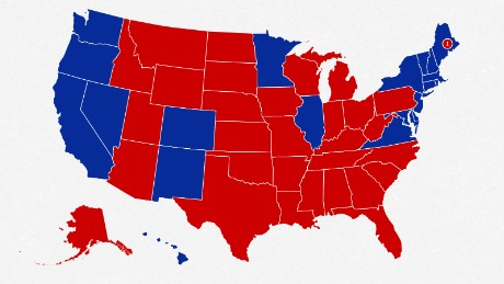 The 2016 election map.