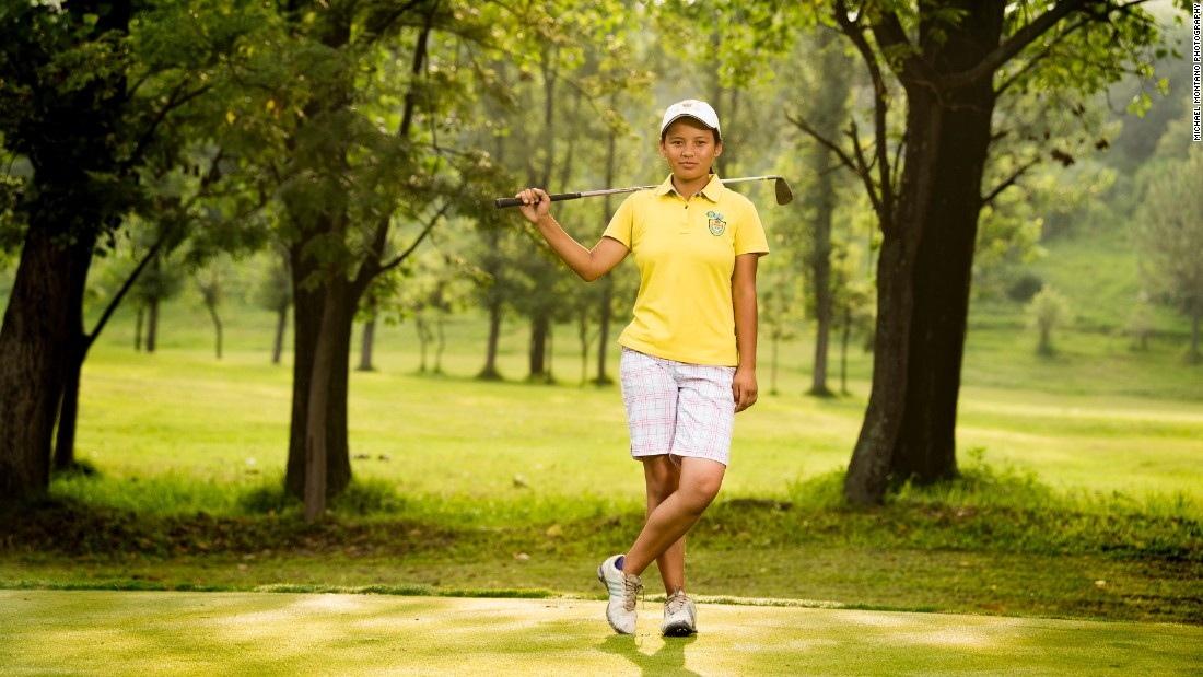"Pratima Sherpa is photographed at the Royal Nepal Golf Club by <a href=""http://www.montanostudio.com/"" target=""_blank"">Michael Montano</a>."