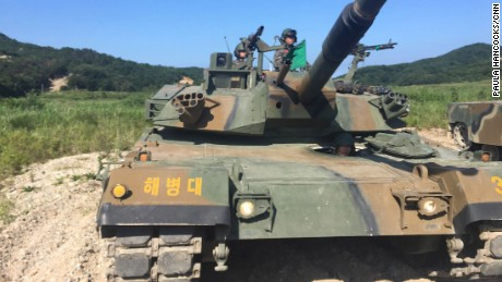 Joint US and South Korean live fire drills are held in Pohang, South Korea, on Tuesday, September 12.