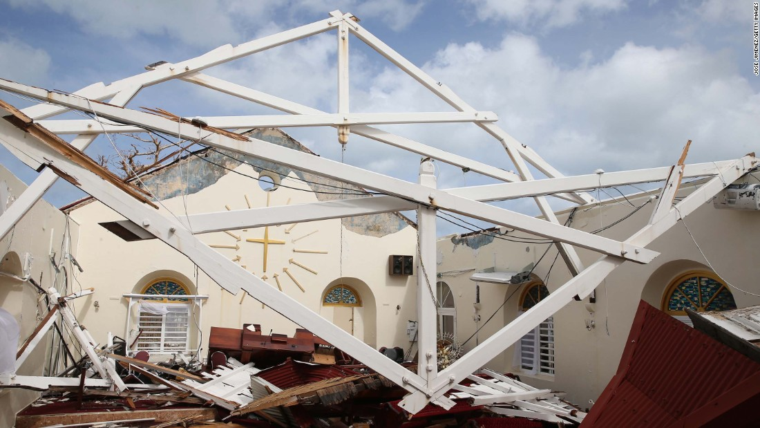 This Marigot church was among the buildings destroyed in the storm.