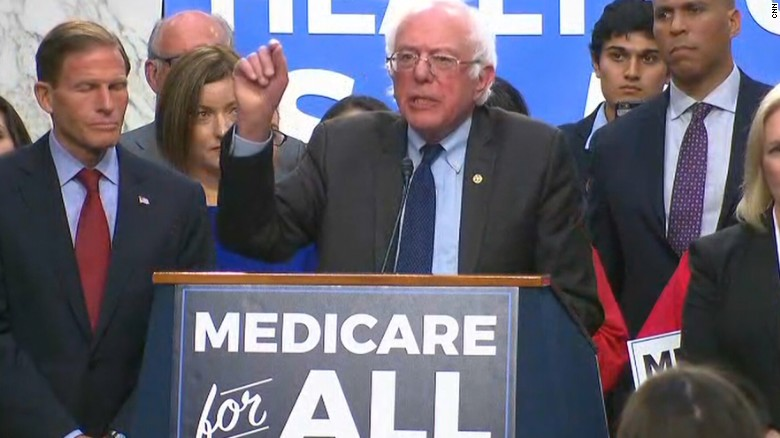 Sanders announces 'Medicare for all' plan