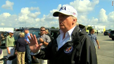 Trump dismisses climate change question by contradicting himself on hurricanes