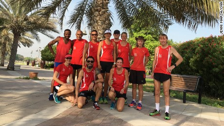 Some of the Dubai Road Runners, pictured in August 2017.