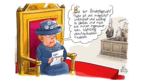 Sketching Merkel's career, one cartoon at a time
