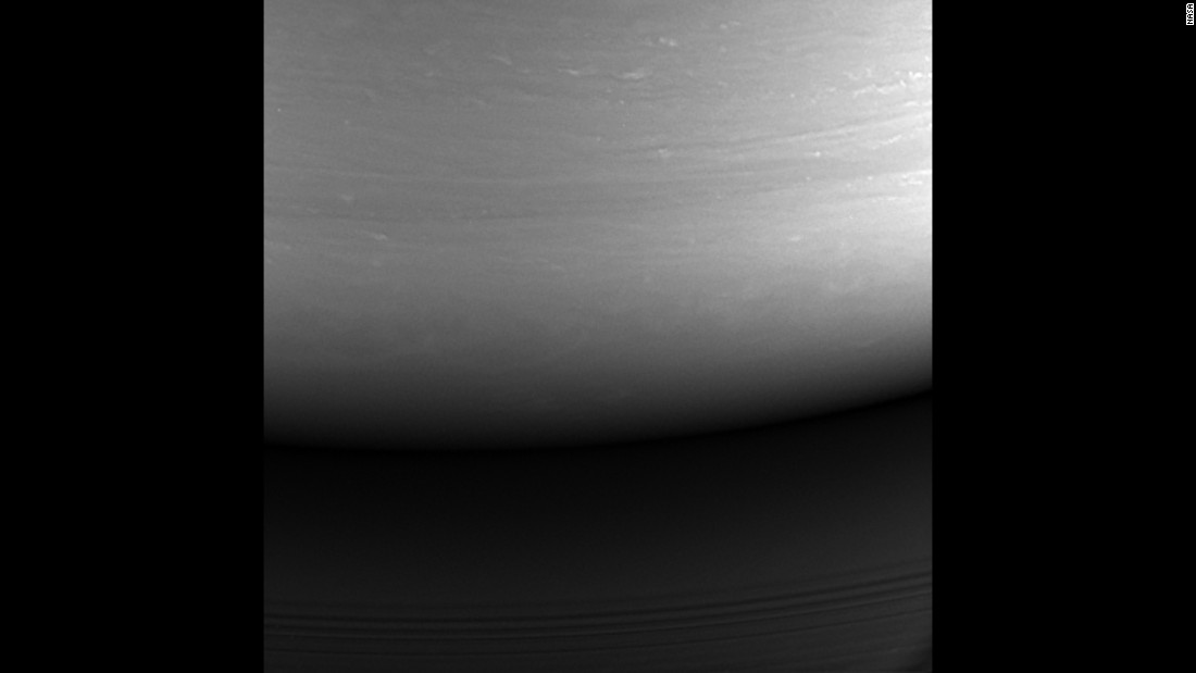 This is the last image taken by NASA's Cassini spacecraft before it broke apart in Saturn's atmosphere on September 15, 2017. RIP, Cassini!