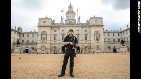 An increased police presence was noticeable in the British capital over the weekend.