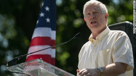 WASHINGTON, DC - JULY 15: Rep. Mo Brooks (R-AL) speaks during the DC March for Jobs in Upper Senate Park near Capitol Hill, on July 15, 2013 in Washington, DC.