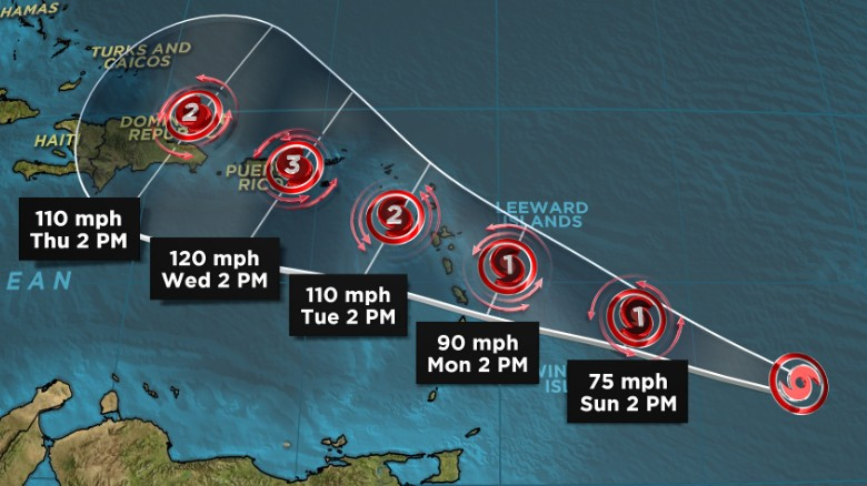 Tropical Storm Maria threatens Caribbean as Lee forms in Atlantic
