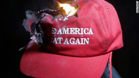 Breitbart: Trump voters burning MAGA hats