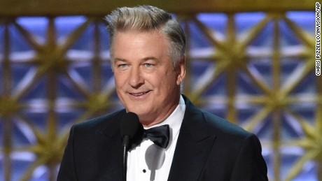 Alec Baldwin accepts the award for outstanding supporting actor in a comedy series for 'Saturday Night Live.'