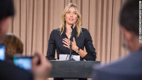 Sharapova held a press conference to announce she had failed a drugs test