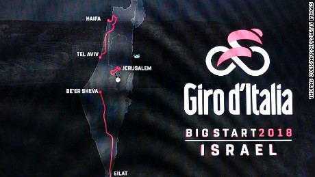 The first three stages of next year's Giro d'Italia will be in Israel