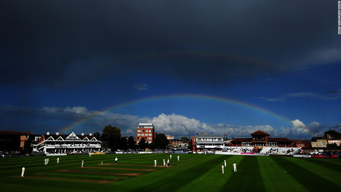 "A rainbow appears over a cricket ground in Taunton, England, during a Division One match between Somerset and Lancashire on Thursday, September 14. <a href=""http://www.cnn.com/2017/09/12/sport/gallery/what-a-shot-sports-0912/index.html"" target=""_blank"">See 32 amazing sports photos from last week</a>"
