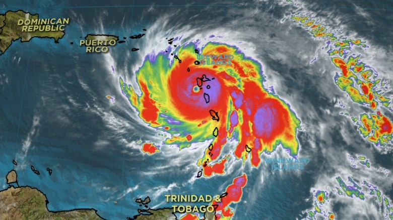 Maria weakens to strong Category 4 hurricane
