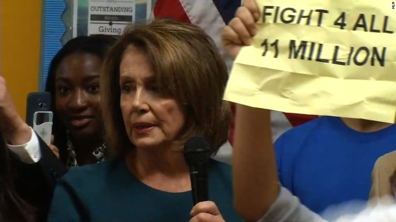 Protesters drown out Nancy Pelosi