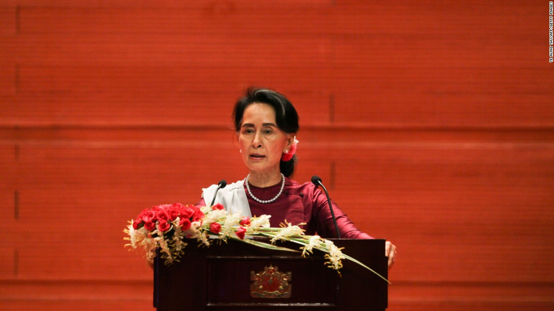 aung san suu kyi 10028370 Aung san's daughter, aung san suu kyi, is a burmese stateswoman and politician and a recipient of the nobel peace prize who is now serving as state counsellor and 20th and first female minister of foreign affairs in htin kyaw's cabinet.